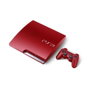 Sony PS3 in schickem rot