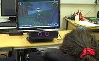 Augengesteuerte Videospiele für behinderte Kinder